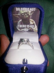 If you were going to propose like this, God might have been saving your from yourself!